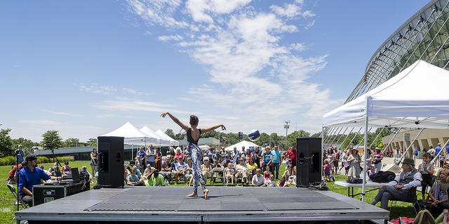 Youth performers at the 2017 Future Stages Festival. Photo by Jillian Shoptaw.