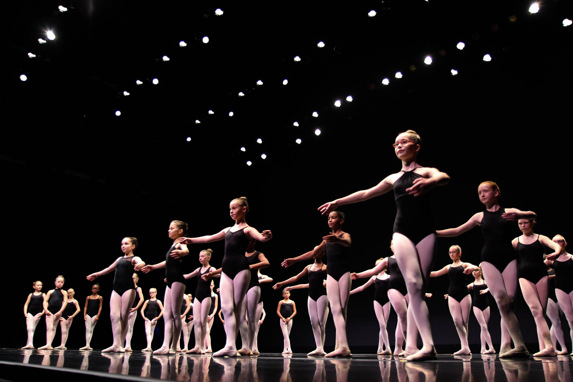 Youth ballet dancers perform at the 2017 Future Stages Festival at the Kauffman Center.