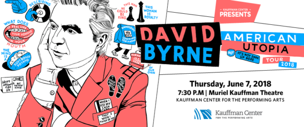 David Byrne - June 7, 2018, Kauffman Center for the Performing Arts