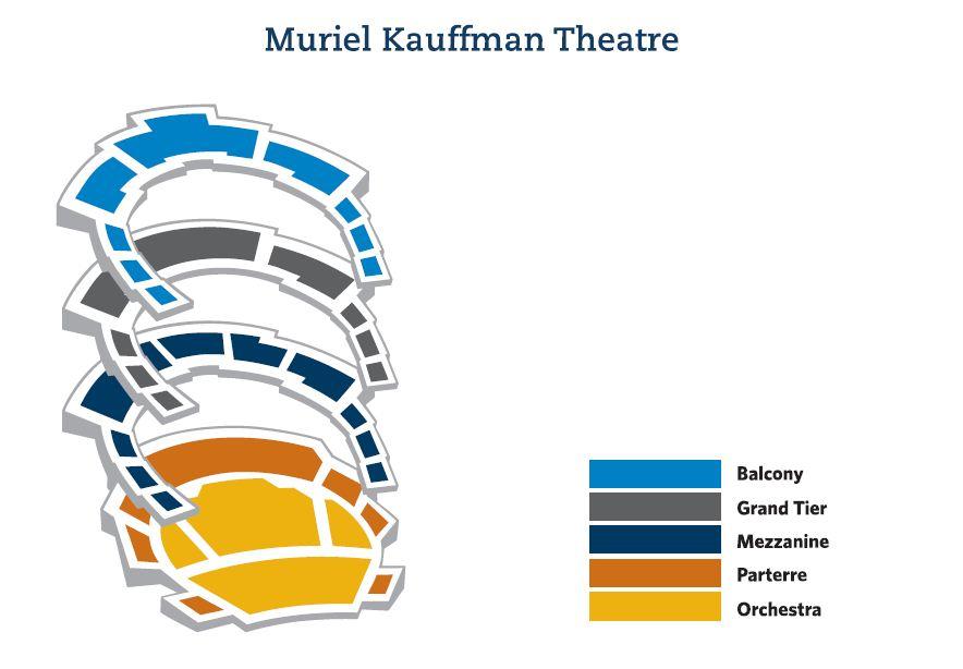 Muriel Kauffman Theatre Seating Sections Kauffman Center